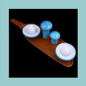 Vintage Holmegaard Palet Egg Cup Set