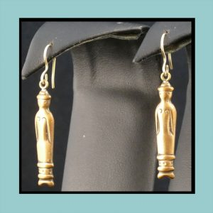 Vintage Finnish Bronze Ear Rings Fr