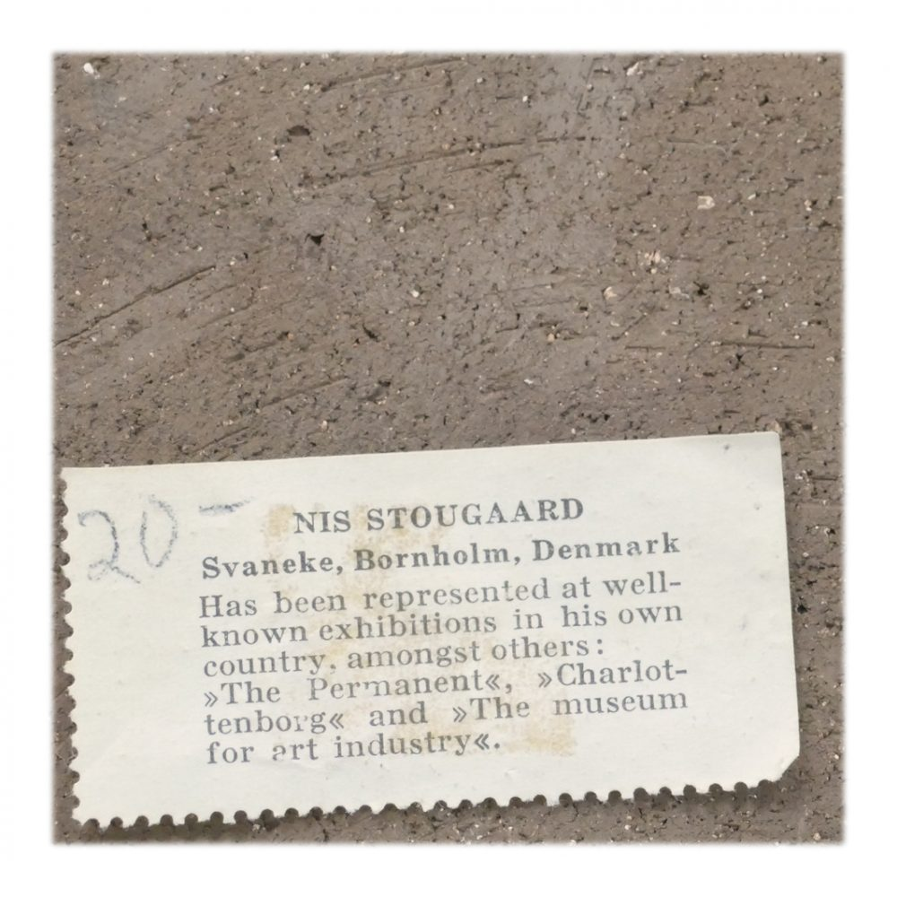 Vintage Stougaard Wall Plaque 5409 Label