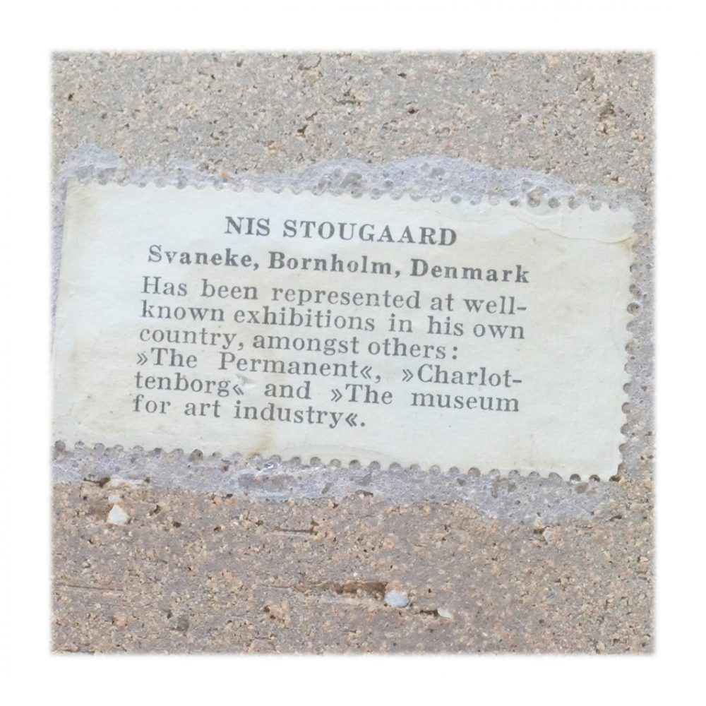 Vintage Stougaard Wall Plaque 5413 Label