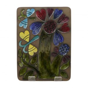 Mari Simmulson Flower Plaque 8028M Fr